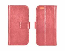 Apple iPhone 6 echt Leder Book Buch Case Handy Tasche Cover Schutzhülle rot