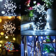UK 50 LED Solar Power Fairy Lights String Garden Outdoor Party Wedding Xmas Lamp