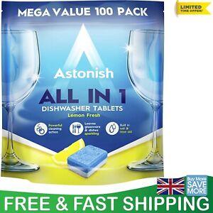 Astonish All in 1 Dishwasher Tablets 100-Piece Mega Value Pack UK Lemon Fresh