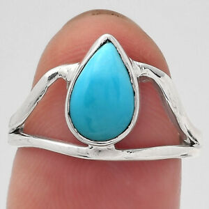 Natural Rare Turquoise Nevada Aztec Mt 925 Sterling Silver Ring s.7 Jewelry E590