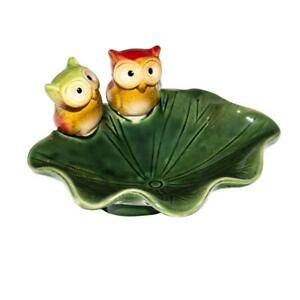 Cute Owl Shaped Ceramics Soap Dishes Soap Box