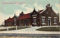 Postcard Big Four Railroad Train Station Depot in Greensburg, Indiana~126615