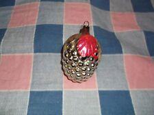 ksm. Christmas Ornament ? Grapes Silver Red  2 9/16 Hi w/Loop