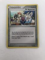 TV Reporter Stamped Holo Uncommon Pokemon Card NM/LP
