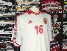SPAIN away Euro 2000 shirt MENDIETA #16-Valencia-Barcelona-Lazio-Camiseta-Jersey