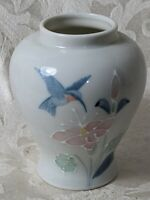 Humming Bird Otagiri Japan Vintage Floral Design Small Ginger Jar No Lid