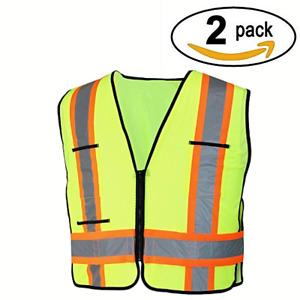 HDX Safety Vest High-Visibility 2-Tone Reflective (2 Pack)