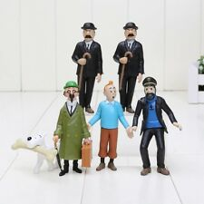 6 Stk. Tim und Struppi Figuren Sammlung Tintin Comic Serie Cartoon Doll Figure