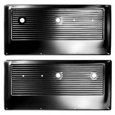 1967-72 Chevrolet Pickup Door Inner Panel Black Steel - Pair New