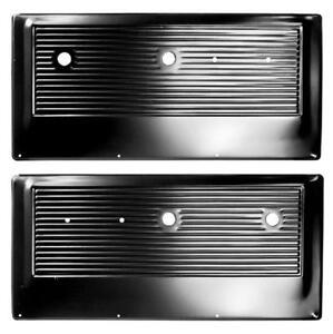 1967-72 Chevrolet Pickup Door Inner Panel Black Steel - Pair New