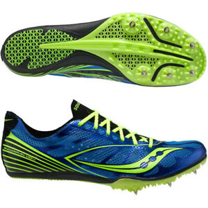 Saucony Men's Endorphin MD4 Running Spikes BLUE/Citron (29009-2) Pick A Size