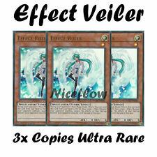 3x Effect Veiler 1st Edition Ultra Rare DUDE-EN028 MINT Holo Fast Ship Yugioh