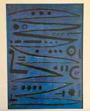 "PAUL KLEE VNTG 1967 ABSTRACT AUTHENTIC LITHOGRAPH PRINT "" HEROIC FIDDLING "" 1938"