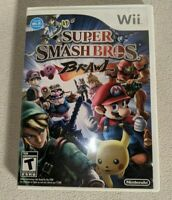 Wii Super Smash Bros Brawl (Nintendo Wii 2008) Case ONLY Disk Not Working As Is