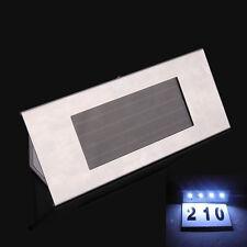 Solar Powered 4 LEDs House Address Number Doorplate Super Bright Light Lamp