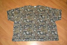 Walls Work Wear Oilfield Camo Camouflage Pocket T Shirt 5XL XXXXXL New Short