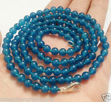 "Long 36"" 8mm APATITE GEMSTONES Round Beads Fashion Necklace AAA"