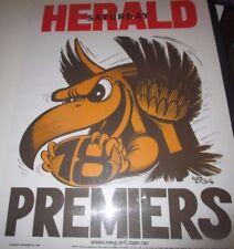 1978 Hawthorn Football Club :  VFL Premiers Official Weg Poster unframed
