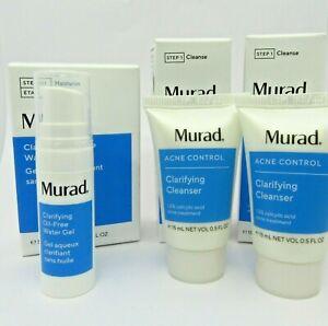 Murad Acne Control Clarifying Cleanser travel size x2 & Clarifying Water Gel