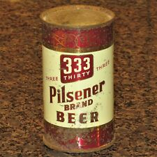 333 Three Thirty Three Pilsener flat top beer can