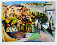 "Pablo Picasso ""CAFE ROYAN"" Estate Signed Limited Editon Art Giclee"