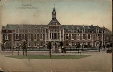 Cambrai France CPA 1916 Le Collège Notre Dame Straßenpartie an der Schule Bäume