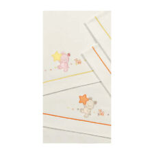 Set lenzuolini ricamato per culla/carrozzina - Jean Somma 080 Panna