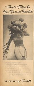 1946 Munsingwear PRINT AD Women's Underwear Bra Girdle Foundettes Cute ART