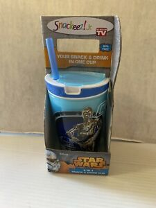 New Snackeez!  Jr. Travel 2 In 1 Small Snack & Drink Cup Disney Star Wars C-3PO