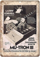 "Mu-Tron III Synthesizer Larry Coryell 10"" X 7"" Reproduction Metal Sign R22"