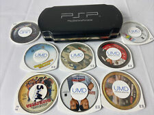 Sony Psp Case With 8 Umd Movie Lot Comedy Walk Hard Clerks Super Troopers