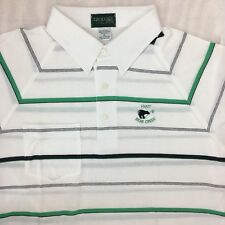 Vtg Izod Club Hyatt Bear Creek DFW Texas Striped Golf Polo Shirt Cotton Poly XL