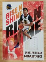 2021 Panini Hoops James Wiseman Jersey RC Rookie #RNS-JWS Warriors
