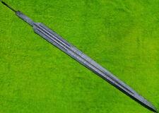 "CUSTOM DAMASCUS STEEL VIKING SWORD BLANK BLADE DAGGER /31"" KNIFE MAKING SUPPLIES"