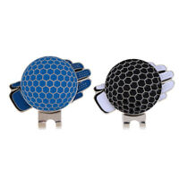 2 Pcs Funny Glove Design Golf Hat Clip w/ Magnetic Ball Marker Great Gift