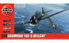 AIRFIX Grumman F6F-5 Hellcat 1:24 Aircraft Model Kit A19004 Fast Delivery