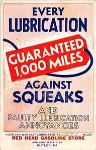 H71/ Advertising Postcard c1941 Butler Pennsylvania Aut Service Garage 72