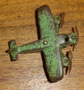 "Vintage Hubley Cast Iron Tri-Motor #362 Toy Airplane - 3 3/4"""