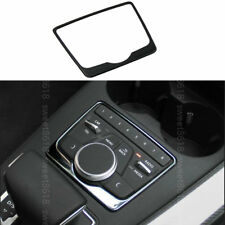 Black Stainless Center Multi-media Buttons Frame Cover Trim For Audi A4 B9 17-18