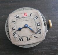 VINTAGE 21.7MM LONGINES MANUAL WIND POCKET WATCH MOVEMENT FOR REPAIR OR PARTS