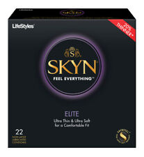 Lifestyles SKYN Elite + Silver Pocket Case, NON-LATEX Polyisoprene Condoms