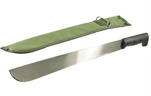 Machete 45cm Silver Steel Blade Plastic HD Handle Sheath Survival Bush Camping