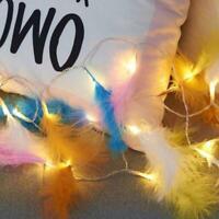 Guirlande lumineuse LED Plume moelleux lumières de fête de mariage Party