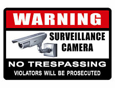 No Trespassing Sign Video Surveilance Sign Violator Durable No Rust Aluminum 363