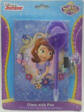 Sofia the First Diary with Marabou Pen, Lock and Key