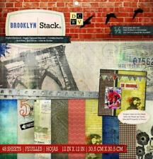 """Brooklyn Stack Cardstock 12"""" x 12"""" DCWV 48 Papers 24 Designs 1/2 Gloss Foil New"""