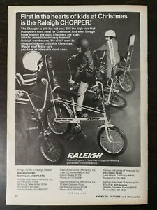 Vintage 1971 Raleigh Bicycle Chopper Full Page Original Ad