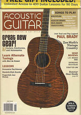 ACOUSTIC GUITAR June 2012 Paul Brady Alex de Grassi Bob Dylan TAB Lessons SS