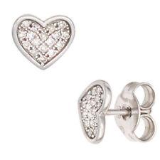 Liebe & Herzen echte Diamant-Ohrschmuck