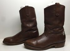 VTG MENS RED WING COWBOY WORK BROWN BOOTS SIZE 9.5 B
